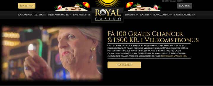 royalcasino_fa_100_Gratis_chancer_1500_KR_i_Velkomstbonus